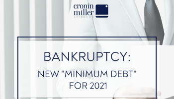 "Bankruptcy - New ""Minimum Debt"" for 2021"