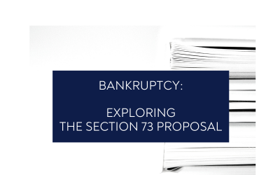 Bankruptcy: Exploring The Section 73 Proposal