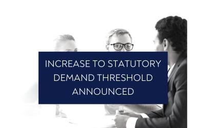 Increase to statutory demand threshold announced
